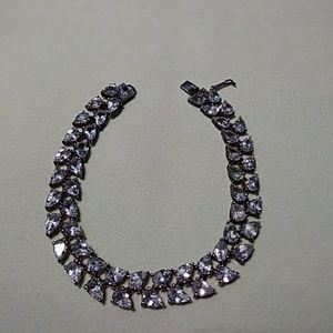 Sterling Silver Rhinestone Bracelet